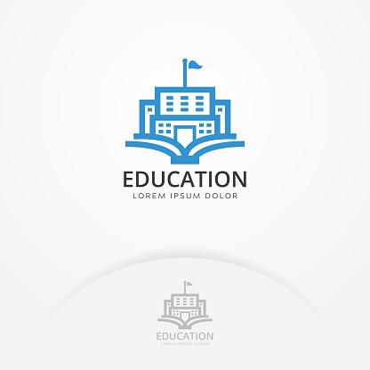 Education building logo
