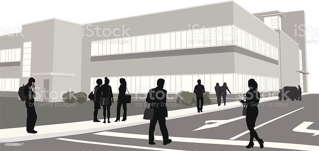 Education Building Vector Silhouette royalty-free education building vector silhouette stock vector art & more images of adult