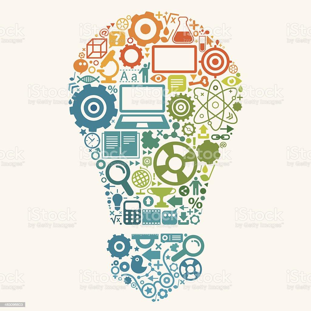 Education Bulb Concept vector art illustration