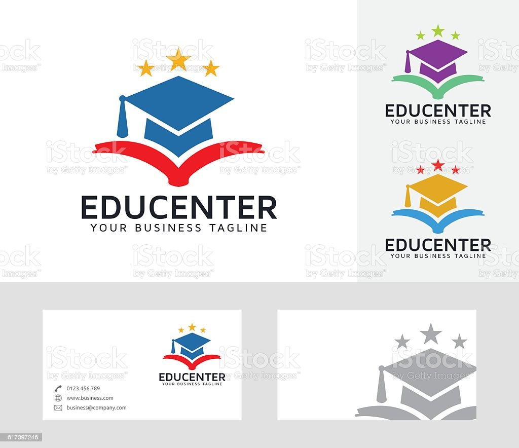 Education Center vector logo - ilustración de arte vectorial