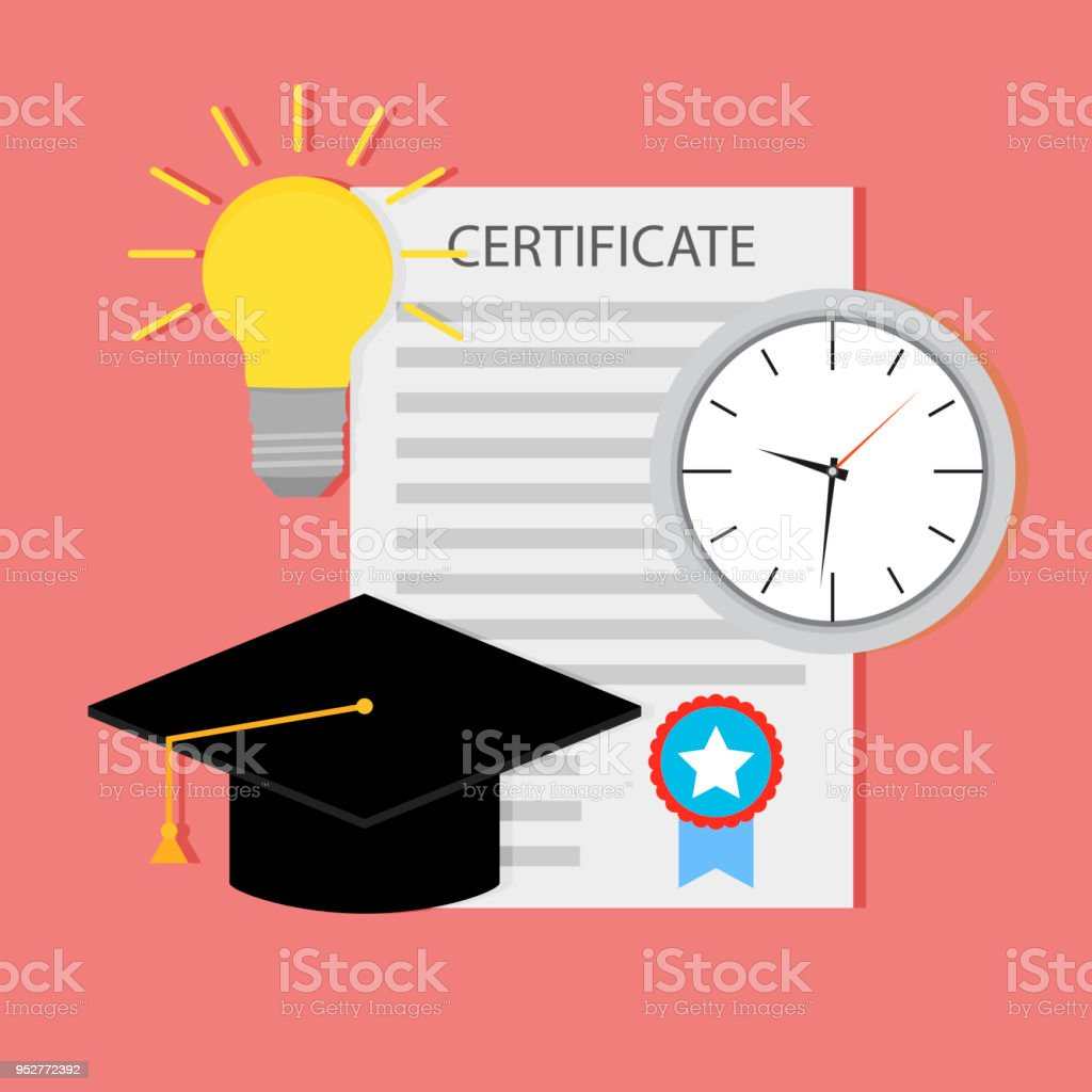 Education Certificate Start Teaching Stock Vector Art More Images