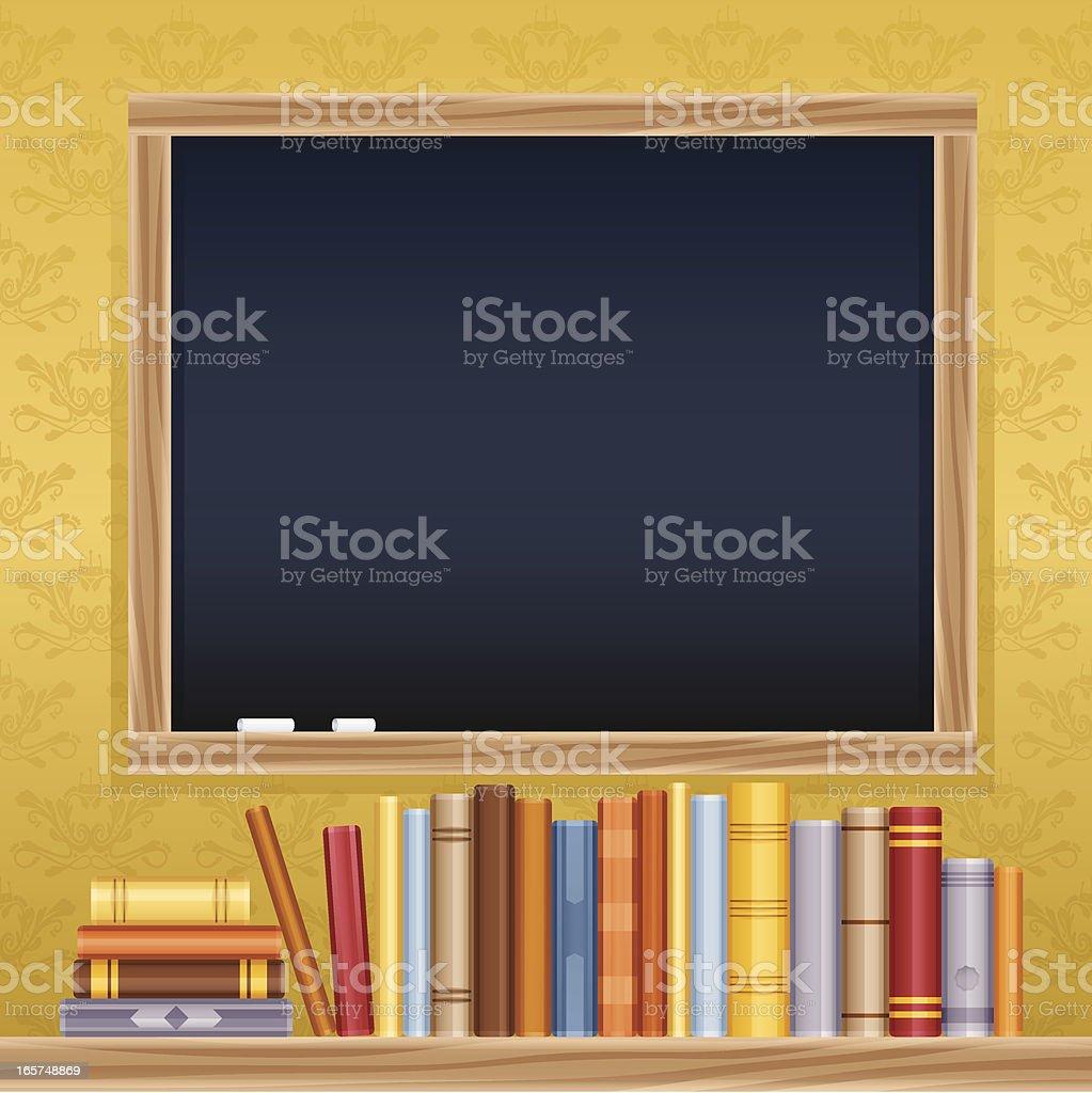Education Chalkboard Message vector art illustration