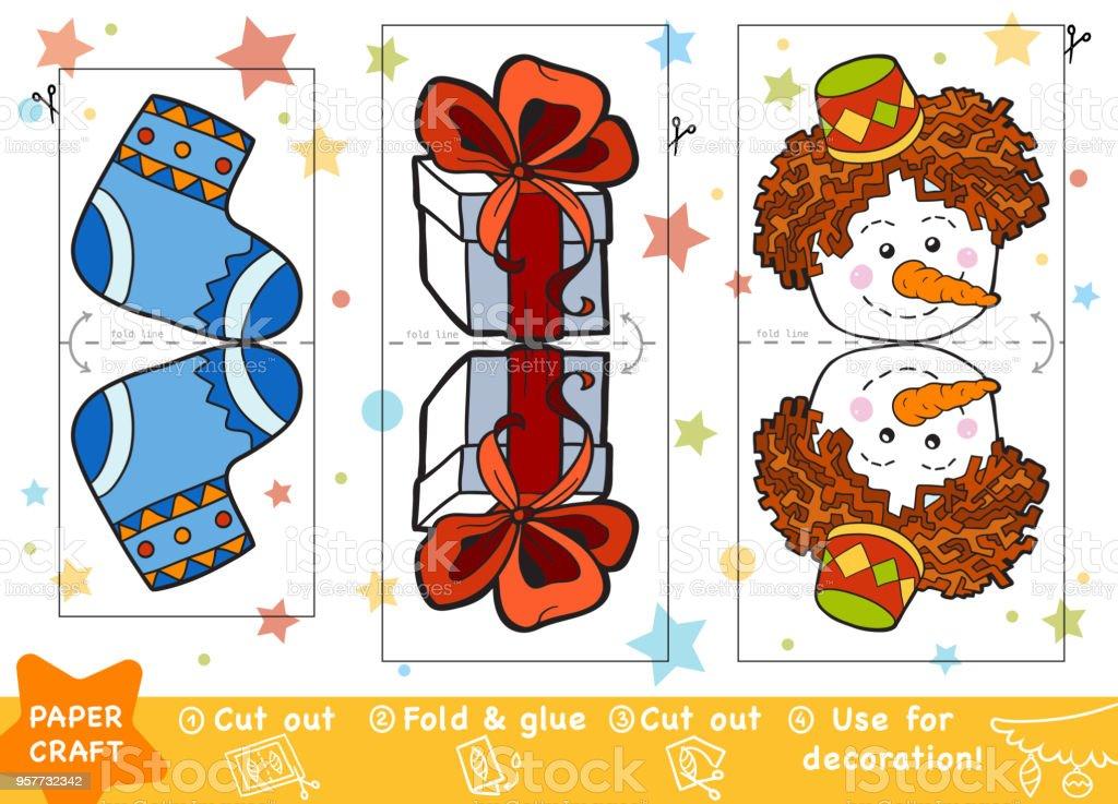 Ilustración de Educación Navidad Papel Manualidades Para Niños ...