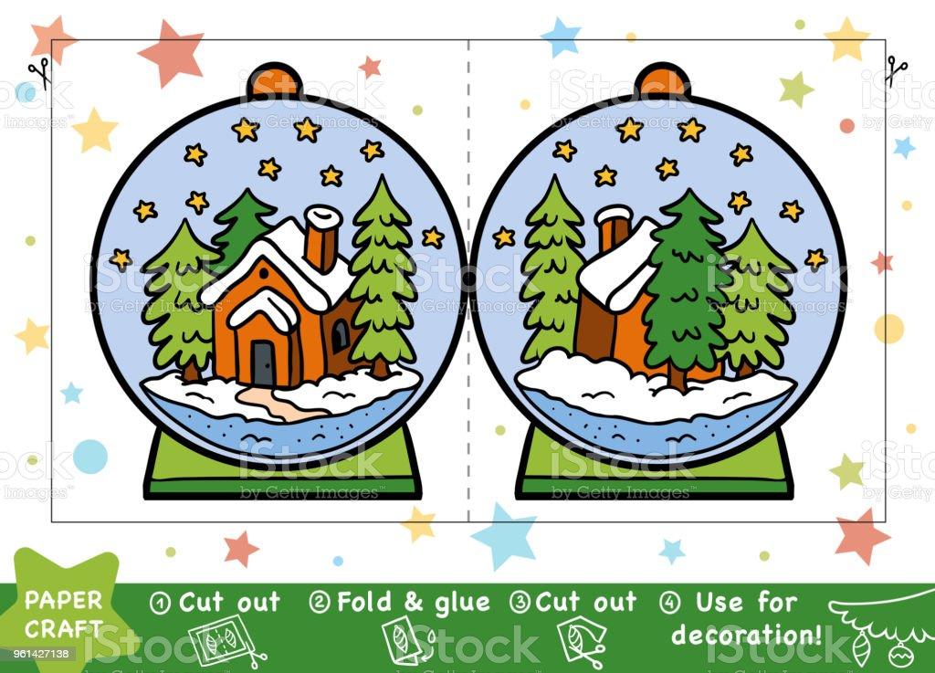 Schneeballbildung Weihnachten Papier Basteln Für Kinder Mit Einem ...
