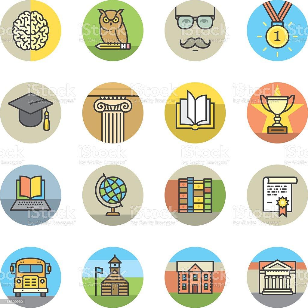 Iconos de la educación circle - ilustración de arte vectorial