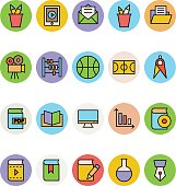 Education Colored Vector Icons 4