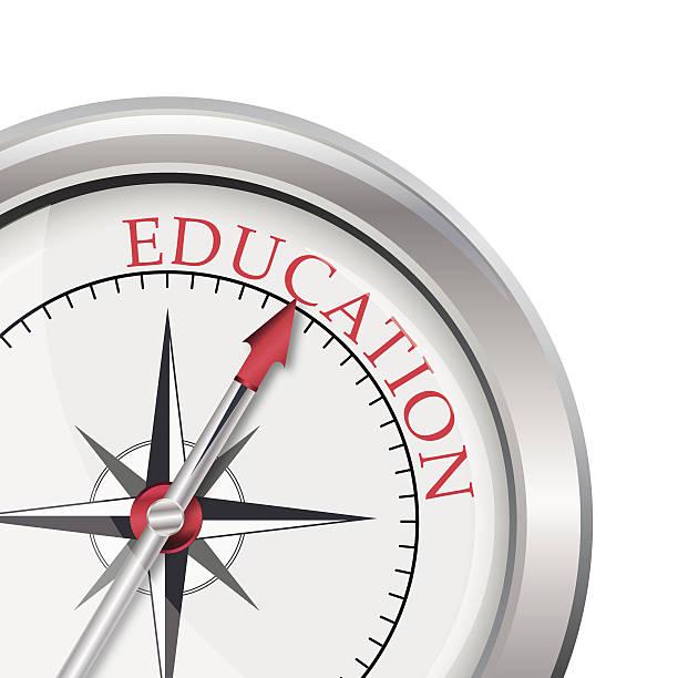 ilustrações, clipart, desenhos animados e ícones de educação bússola direção - orientador escolar