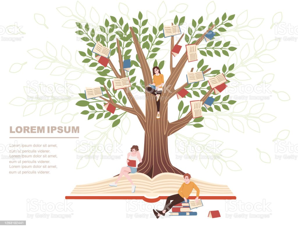 Education Concept Books Growth On The Tree And People Studying Cartoon Character Design Flat Vector Illustration On White Background Stock Illustration Download Image Now Istock Cartoon tree set with lots of different types. https www istockphoto com vector education concept books growth on the tree and people studying cartoon character gm1253102441 365857156