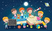 Education Concept Design With Little Children
