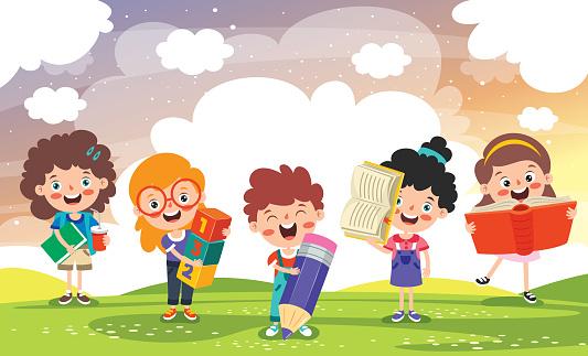 Education Concept Funny School Child