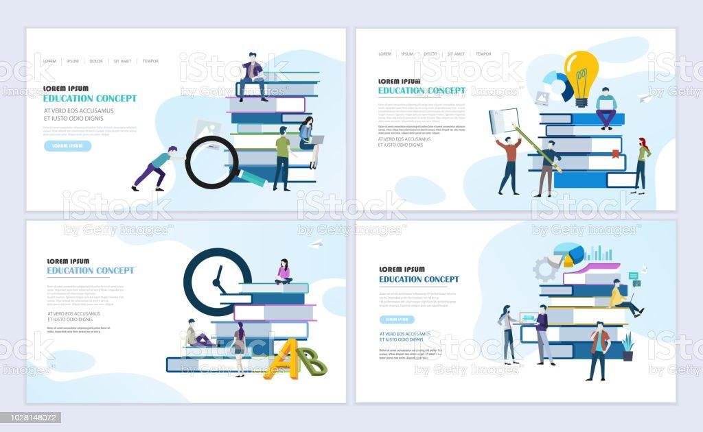 Bildung-Konzept-Webseiten-design – Vektorgrafik