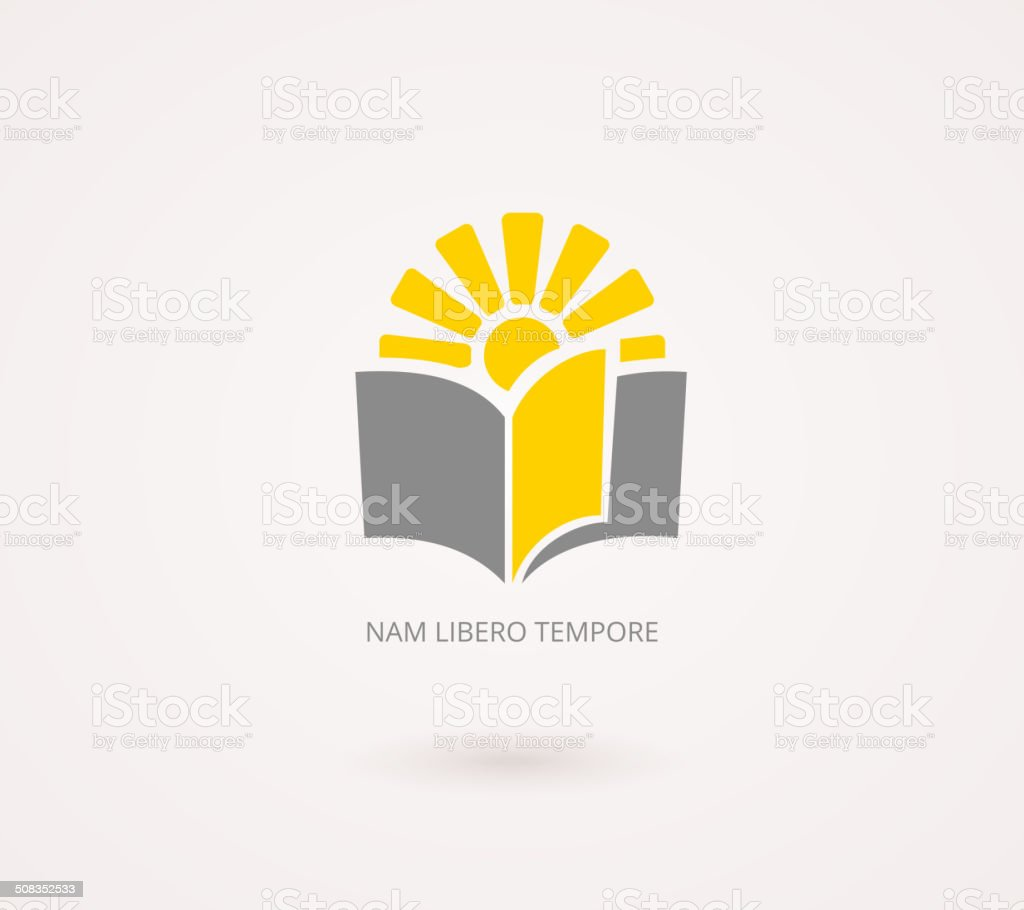 Education Concepts. Yellow and Gray Knowledge Icon vector art illustration