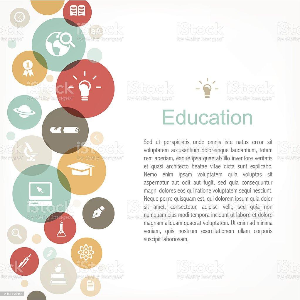 Education copy space vector art illustration