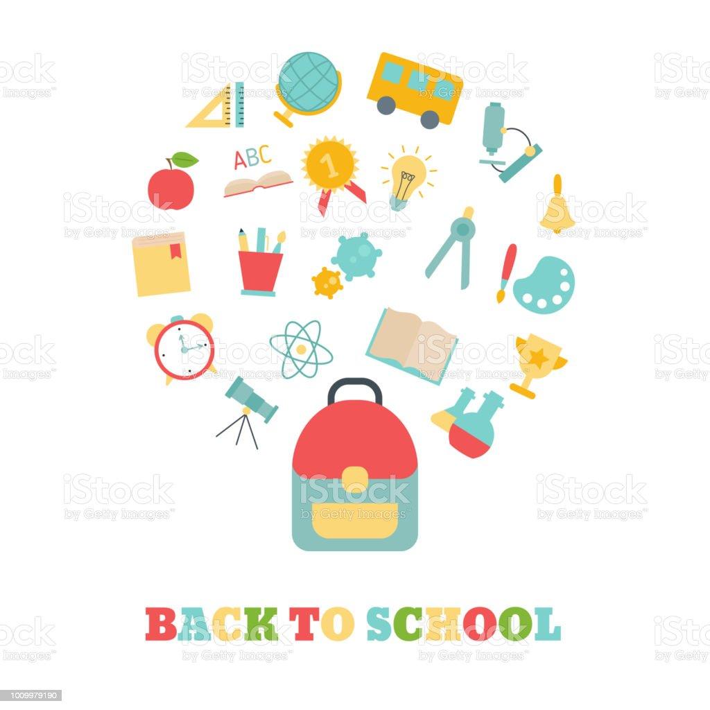 Education design concept. vector art illustration