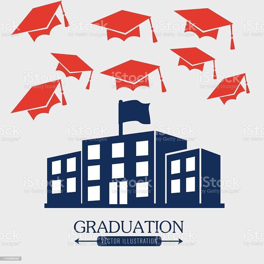 Education design, vector illustration. vector art illustration