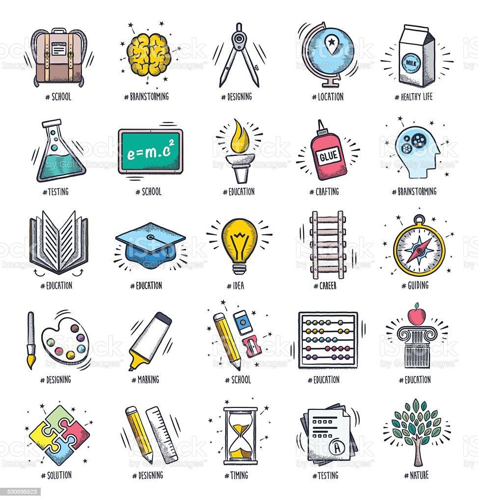 Education Doodles vector art illustration