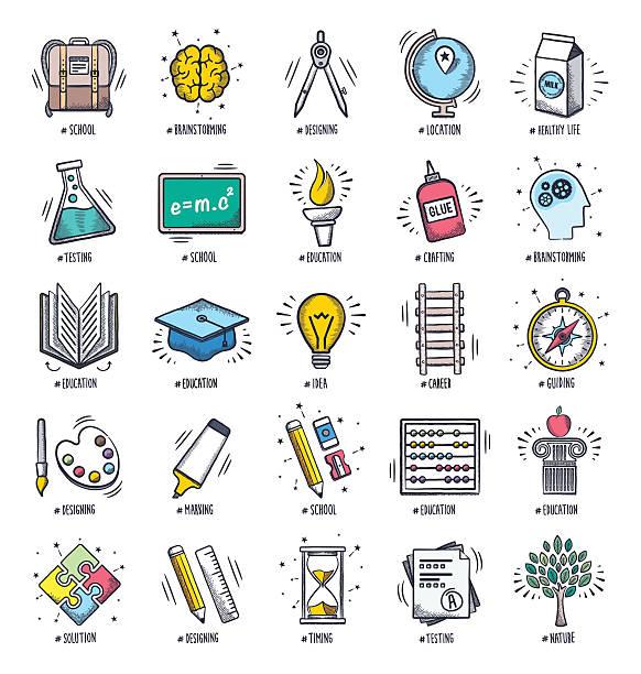 bildbanksillustrationer, clip art samt tecknat material och ikoner med education doodles - abakus
