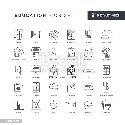 29 Education Icons - Editable Stroke - Easy to edit and customize - You can easily customize the stroke with