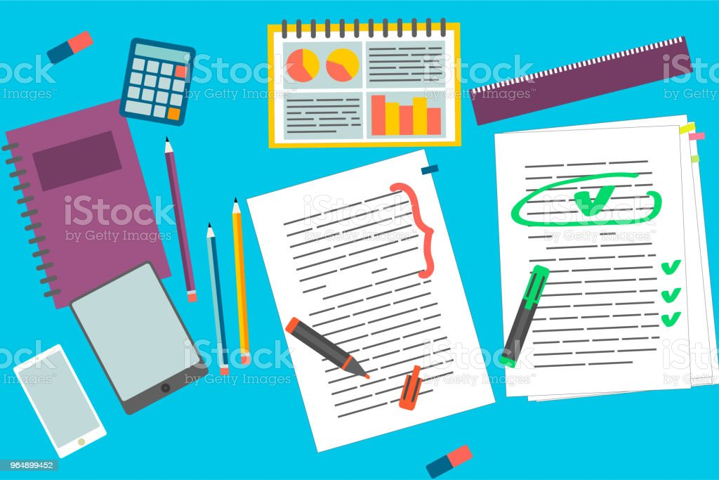 Education elements set - Royalty-free Audit stock vector