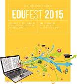 Education festival poster.