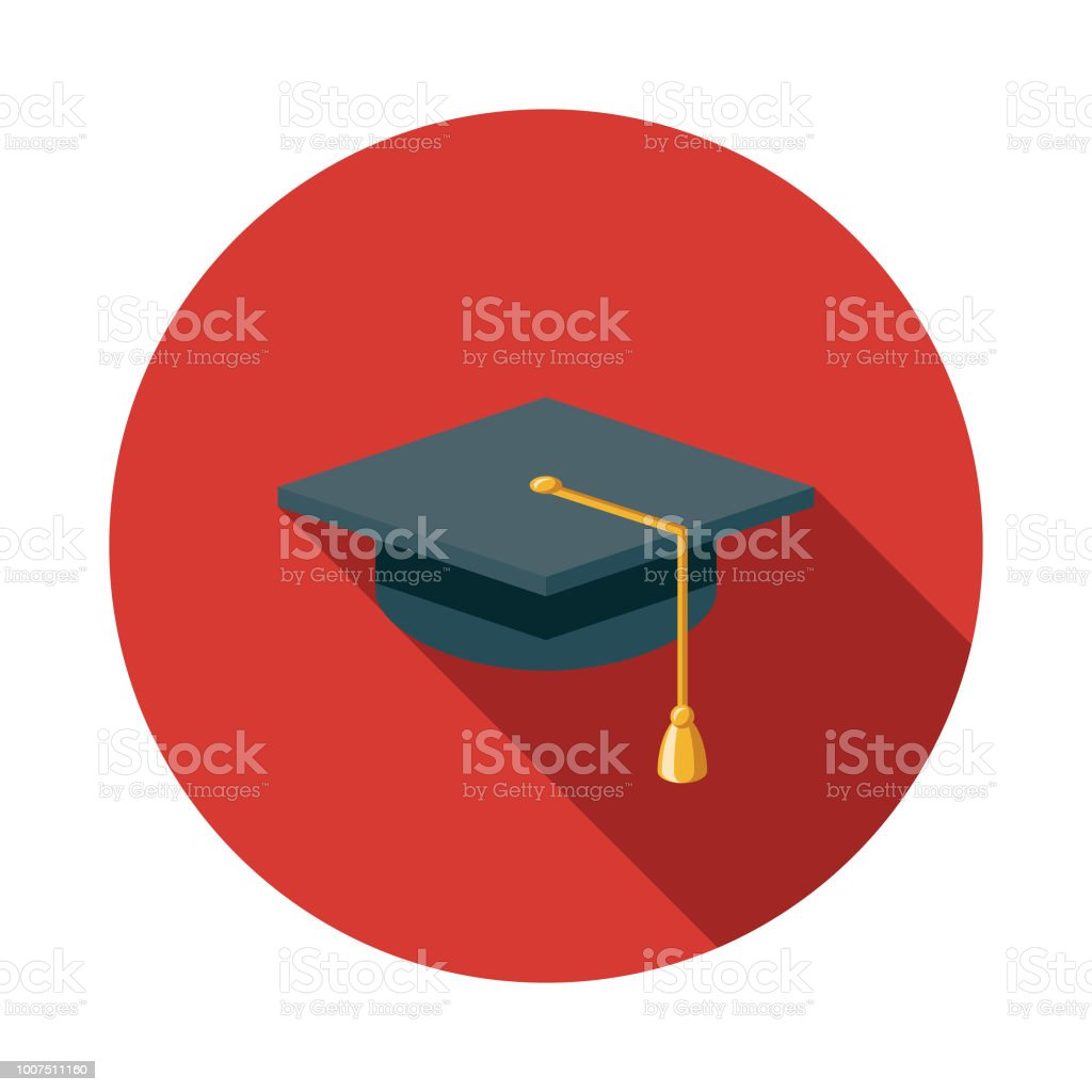 Education Flat Design Insurance Icon vector art illustration