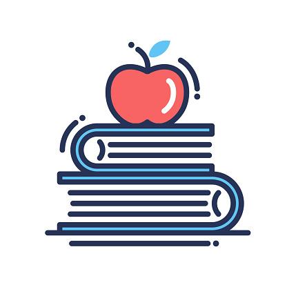 Education flat design single isolated icon