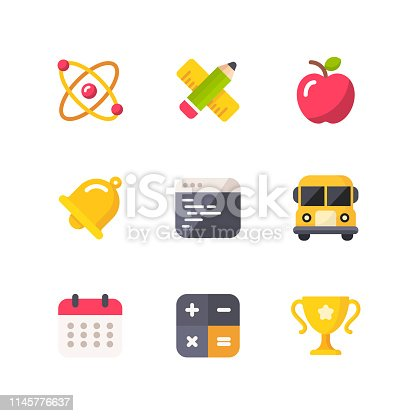 9 Education Outline Icons.
