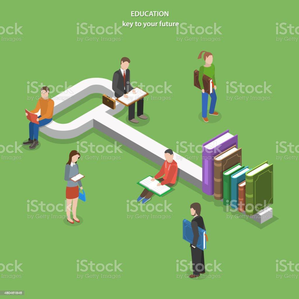Bildung flache isometrische Vektor-Konzept. – Vektorgrafik