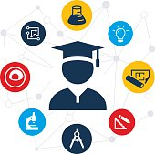 STEM Education Graduate Illustration