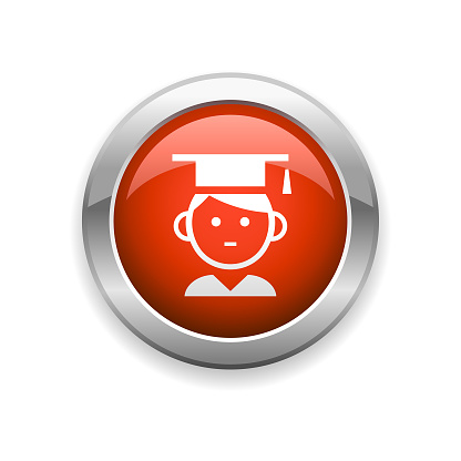 Education Graduation and Student Glossy Icon