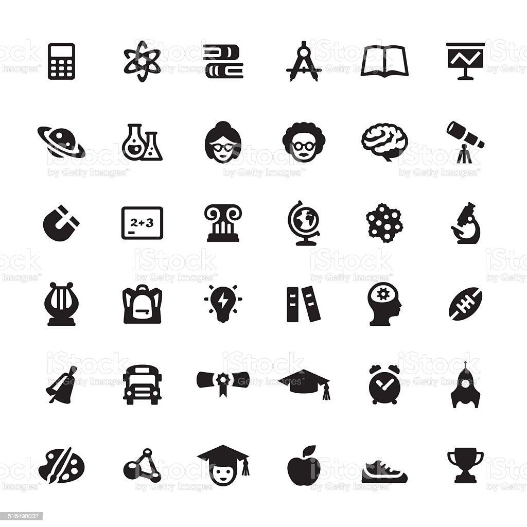L'éducation &  des Symboles et icônes vectorielles - Illustration vectorielle