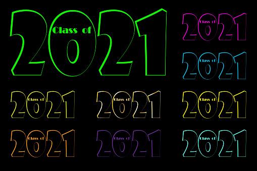 Education icon set. Celebrate party 2021. Symbol, logo illustration. Stock image. EPS10.