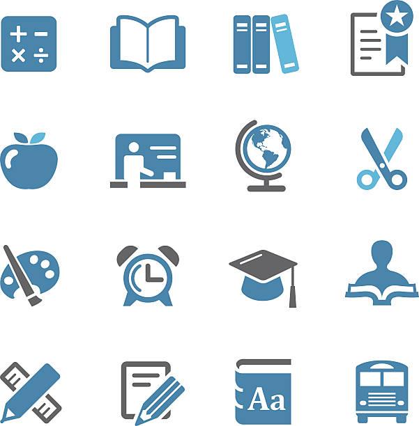Educación icono conjunto-Conc. de la serie - ilustración de arte vectorial
