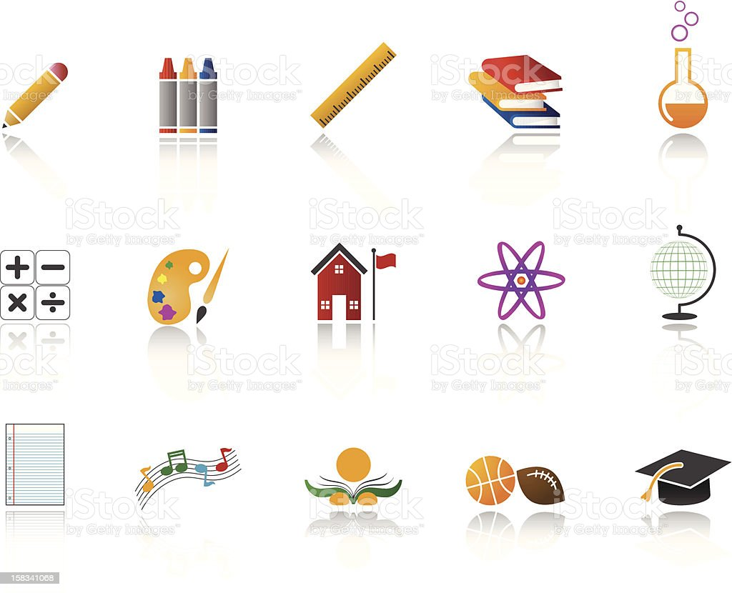 Education Icon set / Full Color royalty-free stock vector art