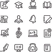 Education Icon Set - Line Series