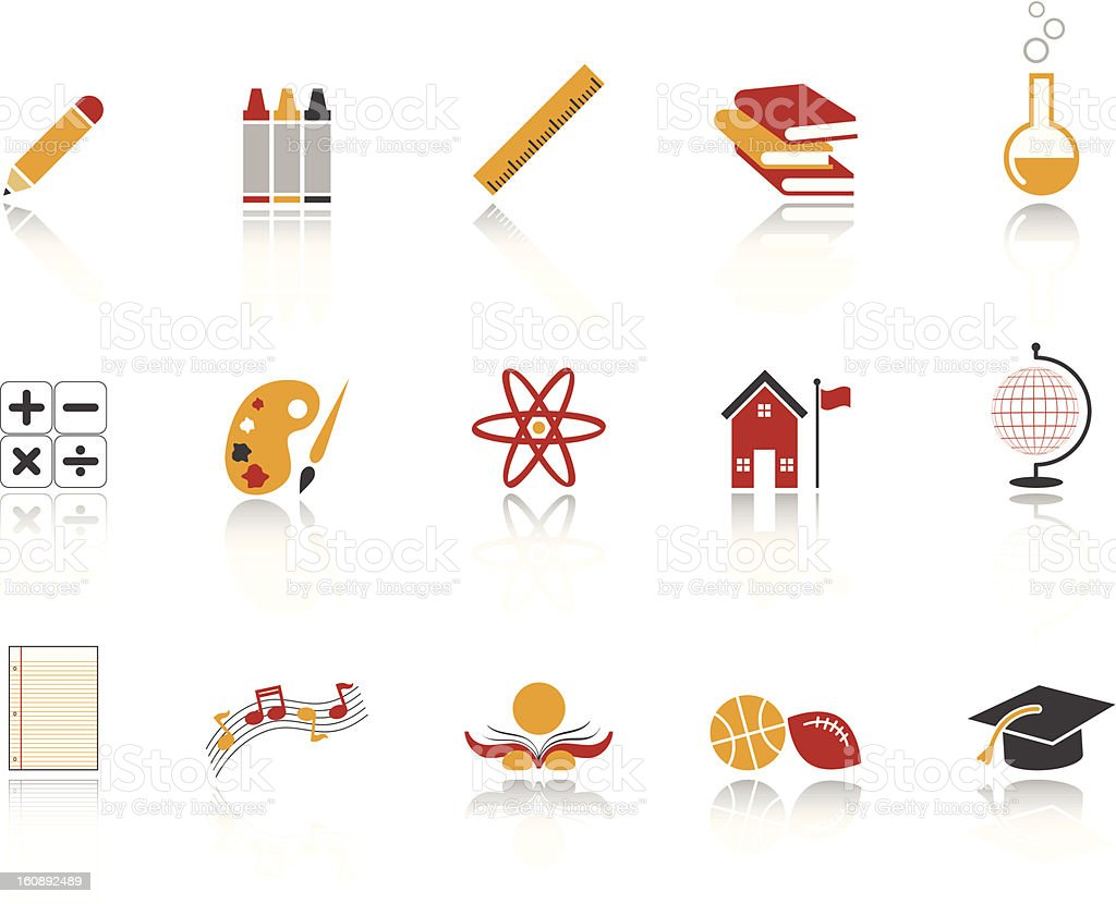 Education Icon set / Ruby version royalty-free stock vector art