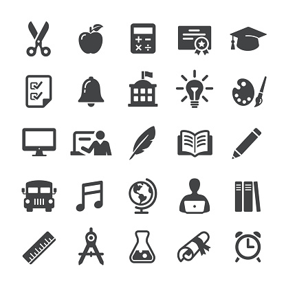 Education Icon Set - Smart Series