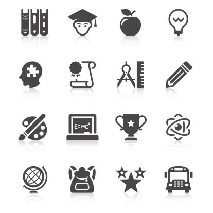 Education Icon Set   Unique Series