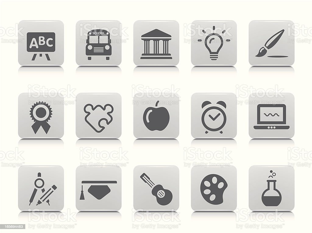 Education Icon Set royalty-free education icon set stock vector art & more images of alarm clock