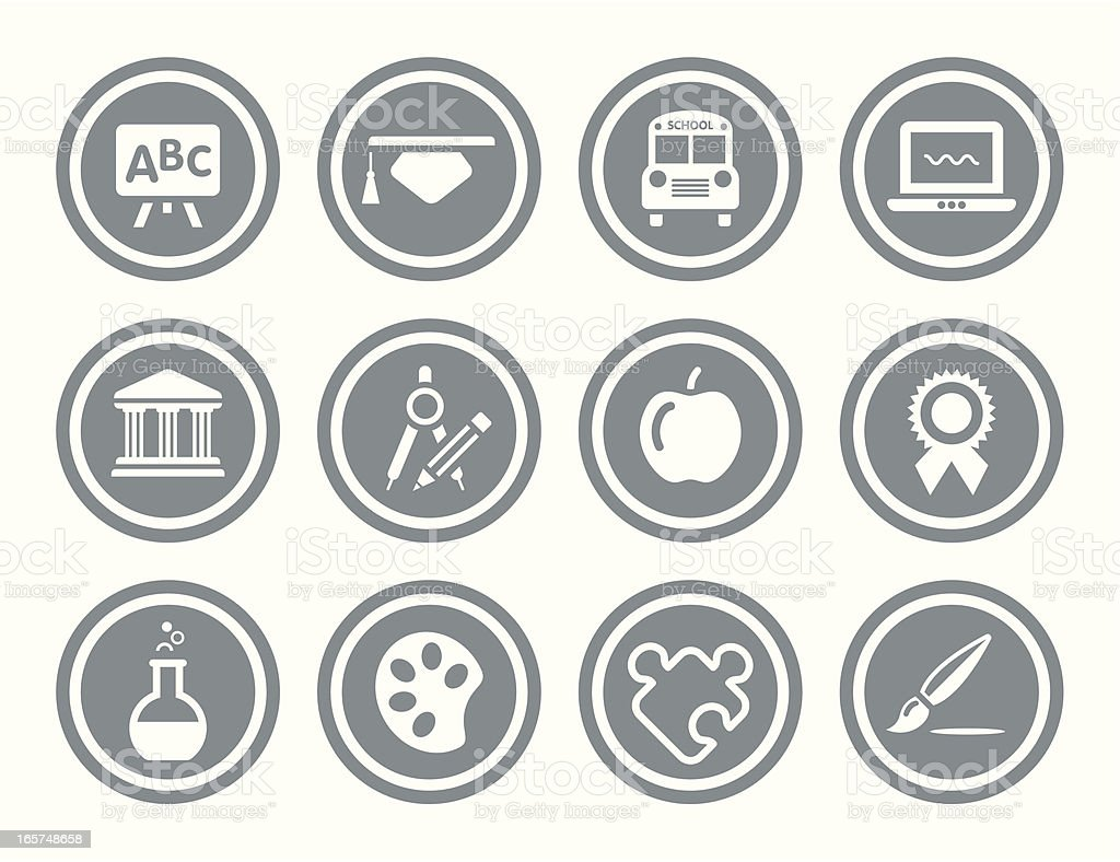 Education Icon Set royalty-free stock vector art
