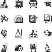 Education icon set