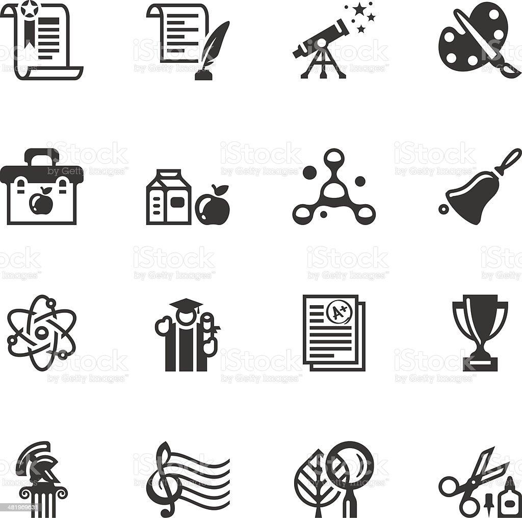 Education icon set vector art illustration