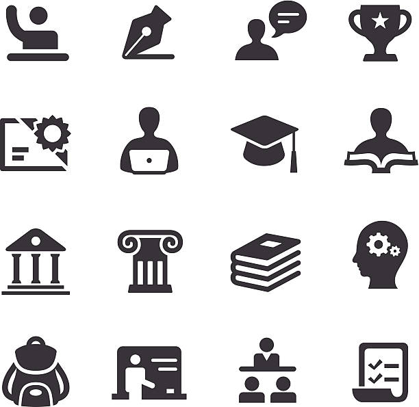 education icons - acme series - book clipart stock illustrations