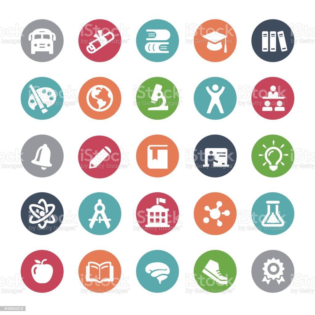 Education Icons - Bijou Series vector art illustration