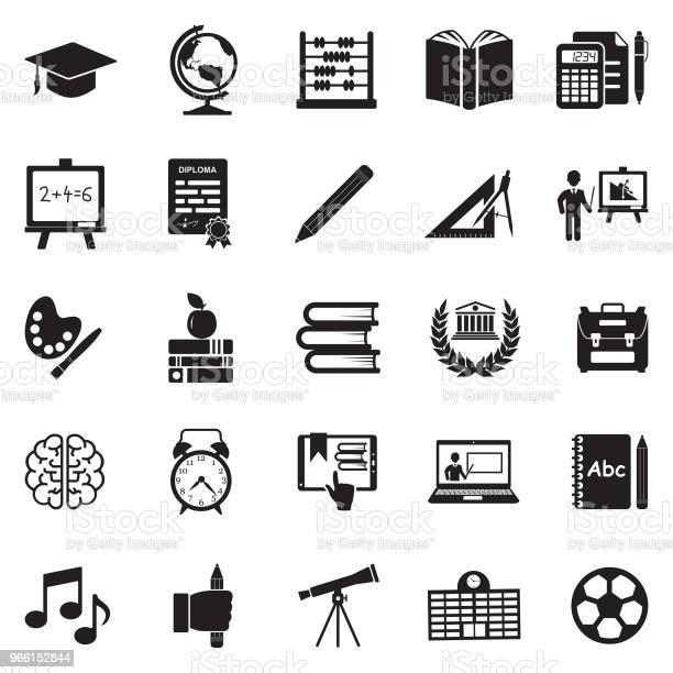 教育圖示黑色平面設計向量插圖向量圖形及更多一個物體圖片