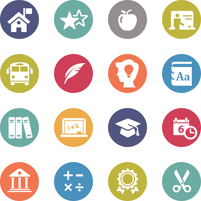 Education Icons - Circle Series