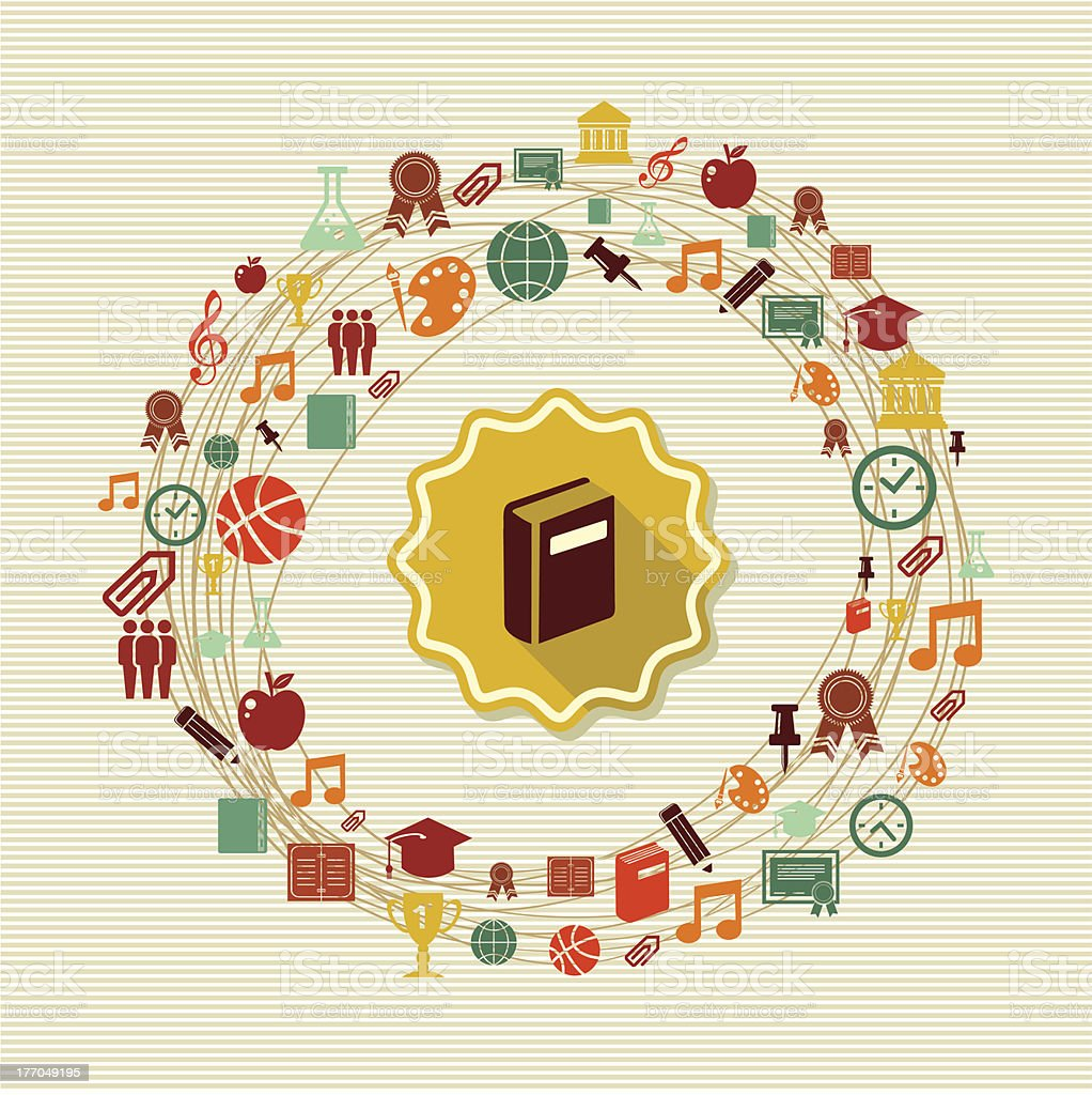 Education icons composition royalty-free stock vector art