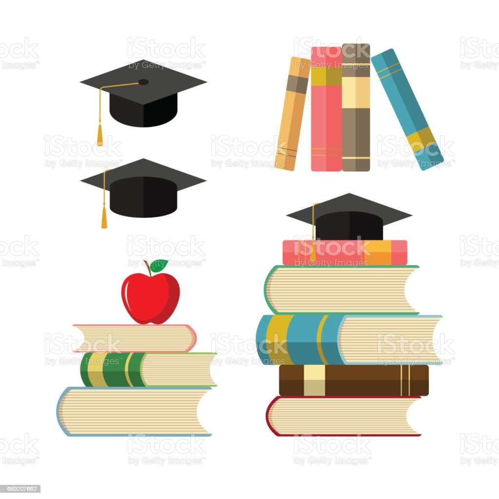 Education Icons Illustration Of Education Or Knowledge Symbols Stack