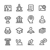 Education Icons - Line Series