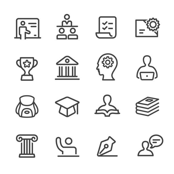 Education Icons - Line Series Education, Teaching, Learning, campus stock illustrations